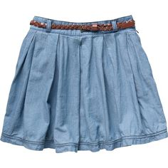 Tommy Hilfiger Ferne chambray skirt (53 CAD) ❤ liked on Polyvore featuring skirts, bottoms, saias, faldas, chambray, women, a-line skirt, pleated a line skirt, pleated skirt and chambray skirt