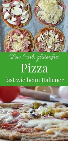 Low Carb Pizza glutenfrei ohne Mehl Italiener ohne Kohlenhydrate