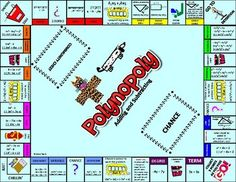 This game is a twist on Monopoly where the properties are vocabulary terms, and each space is an addition or subtraction polynomial problem. Good for a center or for review of adding and subtracting polynomials.Rather than collect properties, the students get points based on the property they land on and solve.