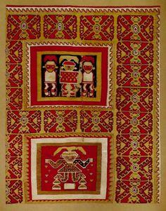 Features    Materials: Textile  Periodo: Intermedio Tardío 1000 - 1470 d.C  Measures: 810 mm de alto x 625 mm de ancho  Part Code: MCHAP 0948  See Chancay culture
