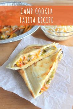 This delish camp cooker fajita recipe is perfect for camping! Simply layer the ingredients in a tortilla and cook over the campfire. Camping Cooker, Camping Grill, Camping Meals, Backpacking Food, Camping Life, Grilling, Pie Iron Cooking, Pie Iron Recipes, Yummy Recipes