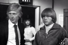 The Rolling Stones' manager Andrew Loog Oldham with Brian Jones, maybe 1966?