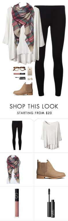 """still stuck insideee"" by classically-preppy ❤ liked on Polyvore featuring James Perse, H&M, NARS Cosmetics and Kate Spade"