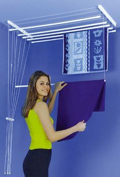THIS IS AWESOME - especially for rugs! I hate putting my no skid rugs in the dryer cause after awhile that no skid stuff comes off. Hanging rugs to dry isn't easy and this would make things so much easier!