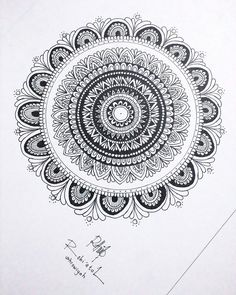My first mandala I have made. Inspired by @tomomi_artgallery See more on my instagram : robiatulwyh Doodle Inspiration, Tattoo Inspiration, Zentangle Patterns, Zentangles, Ink Drawings, Mandala Art, Pattern Art, Wire Jewelry, Madness