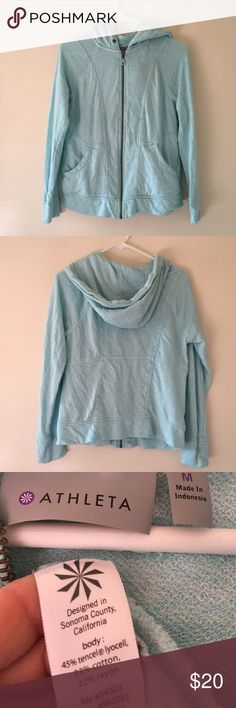 Athleta medium athletic hooded sweatshirt Excellent condition pretty color Athleta Tops Sweatshirts & Hoodies