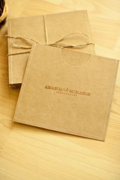 nice packaging for photographer to deliver CDs of work