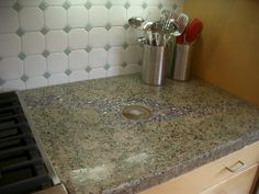 Awesome Concrete Counter With Exposed Aggregate | Don Kaufman