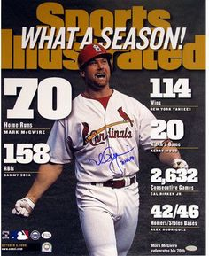Mark McGwire SI Cover w/70 hr 98 insc 16x20 Ltd of 98 Mark McGwire is one of the greatest home run hitters of his era. His talents didnt take long to surface either. During his first season in 1987 Bi