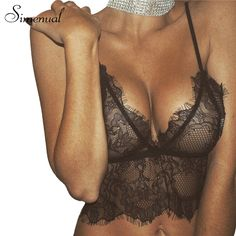 Simenual Summer 2017 lace bralette sexy hot lingeries fashion see through bustier crop top women vest camisole ladies bra camis