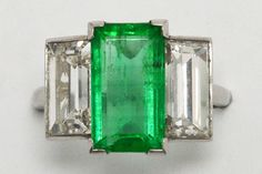 The Beaumont Art Deco Colombian emerald engagement ring. GIA certified with minor oil, this is a rare, spectacular and beautiful 3 stone ring. #emerald #diamond #platinum #engagementring #engagementrings #ido #love #3stonering #3stonerings #platinumring #platinumrings #heirloom #heirloomring #heirloomjewelry #heirloomjewelery #emeraldring #emeraldrings #artdeco #artdecoring #artdecorings European Cut Diamonds, Emerald Cut Diamonds, Diamond Cuts, Estate Engagement Ring, Antique Engagement Rings, Moonstone Earrings, Moonstone Ring, Colombian Emeralds, Art Deco Ring