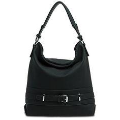 CASPAR klassische Damen Ledertasche / Handtasche / Schultertasche aus Wildleder - viele Farben - TL621, Farbe:dunkelblau CASPAR Fashion