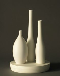 Pottery by the American studio potter Lilith Rockett. Soft and serene.