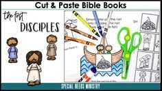 The First Disciples Adapted Books (Black and White) – KidzMatter Vacation Bible School, Cut And Paste, Craft Corner, Bible Stories, Bible Lessons, Special Needs, Speech And Language, Sunday School, Curriculum