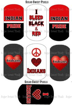 INSTANT DOWNLOAD Indians School Mascot Red  by sugarnspicebow