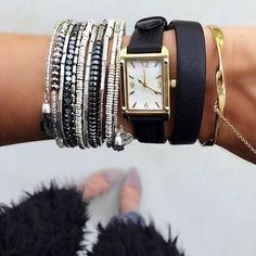 """2,338 Likes, 21 Comments - Stella & Dot (@stelladot) on Instagram: """"For an instant #armparty, just add the Celine Wrap Bracelet. #stelladotstyle #ootd  @jenagreen920"""""""