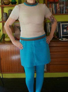 vintage 60s mod wool sweater top zip cream by dieyoungstaypretty