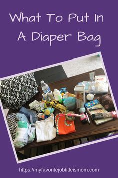 Here is a list of everything you need in a diaper bag to be ready for anything baby may need while you are out. #diaperbag #stockingadiaperbag #babystuff #thingstoputinadiaperbag