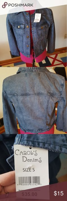 Carol's denim jacket New with tags. Faded blue. Very comfortable fit carols denim Jackets & Coats Jean Jackets