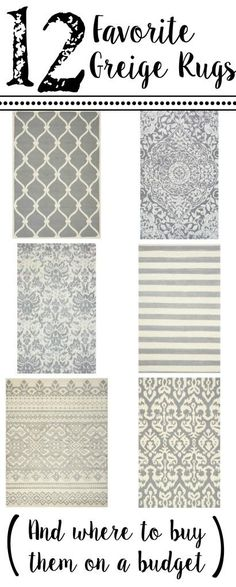 12 Favorite Greige Rugs (And Where to Buy Them On a Budget)   Bless'er House -  Rugs that will work in almost any room!