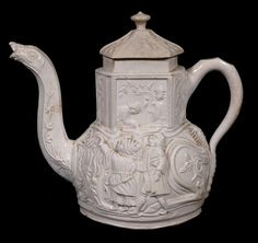 A Staffordshire saltglazed stoneware camel teapot and cover , mid 18th century, Nancy Gunson Collection