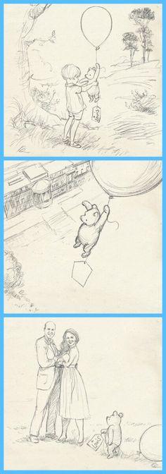 Cute Disney Sketch of Winnie the Pooh as Disney Welcomes The Royal Baby Prince Louis Of Cambridge · The Inspiration Edit . #PrinceLouis #Disneyart #disney #art #sketch #disneystyle #duchessofcambridge #dukeofcambridge #princesskate #winniethepooh #wiiniethepoohart