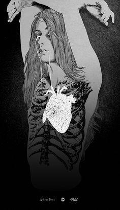 Michal Tarka: Void    #anatomy #heart #illustration