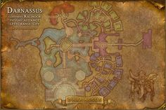 Darnassus Map with Locations, NPCs and Quests - World of Warcraft