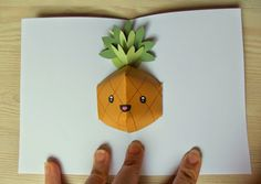 Pop up pineapple card