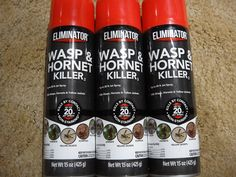 Insect Repellent Sprays 3 ~ Eliminator Wasp And Hornet Killer Spray 15 O. Wasp Killer, Insect Repellent Spray, Eat Fruit, Hornet, Skin Makeup, Insects, Sprays, Free Shipping, Ebay