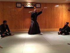 Kenjutsu swordsmanship at the Sensokan