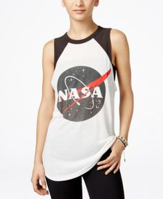 Take your casual look to new heights in Mighty Fine's Nasa graphic tank. Pair it…