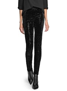 Last-minute holiday sales: Obsessed with these Mango sequined leggings for $25