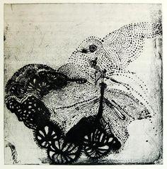Ritsuko Ozeki  Piece B (Black), 2008  Print Liftground Etching & Aquatint on paper   20 x 20 inches