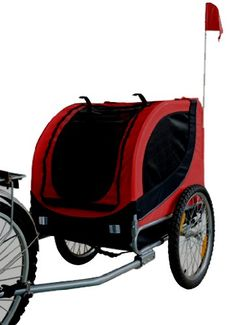 MDOG2 MK0001 Comfy Pet Bike Trailer, Red/Black -- Check this awesome product by going to the link at the image.
