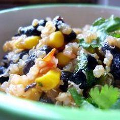 Quinoa met zwarte bonen en komijn @ allrecipes.nl
