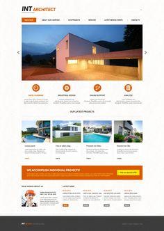 'Int Architect' #webdesign theme for #Joomla 3 http://www.zign.nl/joomla-templates.html