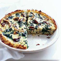 Spinach Mushroom quiche!!! Yummy!!