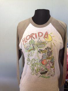 Roadmap Raglan Shirt - FLORIDA