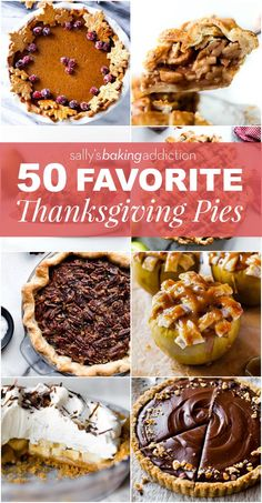 (She has awesome recipes!) 50 of the BEST Thanksgiving pie recipes including pumpkin pie, pecan pie without corn syrup, banoffee pie, apple pie, and so much more! Mini Desserts, Fall Desserts, Just Desserts, Pecan Recipes, Pie Recipes, Dessert Recipes, Pumpkin Recipes, Pecan Pumpkin Pie, Chocolate Pumpkin Pie