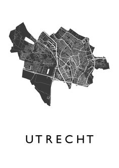 Utrecht White Map