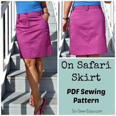 Cargo style skirt with yoke, pockets, belt lops, top stitching detail. Great in a denim too and ideal to shorten for a mini if you like.