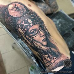 Black&grey Native American Indian girl tattoo.  For appointment or Design tattoo please contact   WEBSITE: http://www.wonderlandtattoophuket.com FACEBOOK: http://www.facebook.com/wonderland.tattoo.phuket EMAIL: wonderlandtattoo86@gmail.com INSTAGRAM: wonderlandtattoo_phuket   #Thailand #Thailandtattoo #Phuket #Phukettattoo #Patong #Patongtattoo #Tattoo #Tattoos #WonderlandTattooPhuket #WonderlandTattooPatongPhuketThailand #BestTattooShopPatongPhuketThailand
