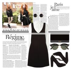 """""""60-Second Style : Pinafores"""" by emerald-writer-girl ❤ liked on Polyvore featuring Anja, ASOS, See by Chloé, New Look, Irene Neuwirth, Ray-Ban, Balmain, pinafores and 60secondstyle"""