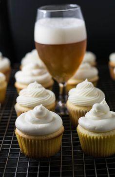 Honey Roasted Grapefruit Wheat Ale and Meyer Lemon Cupcakes :http://beergirlcooks.com/honey-roasted-grapefruit-wheat-ale-and-meyer-lemon-cupcakes/