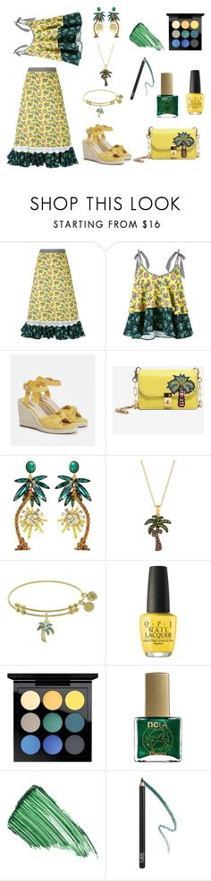 """""""Tropical Day"""" by siriusfunbysheila1954 ❤ liked on Polyvore featuring House of Holland, JustFab, Valentino, Elizabeth Cole, LE VIAN, OPI, MAC Cosmetics, ncLA, By Terry and NARS Cosmetics"""