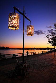 The quays of Bordeaux, France. Bordeaux France, Monuments, Ville France, Belle Villa, Dordogne, Amazing Sunsets, Street Lamp, Le Corbusier, France Travel