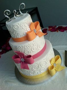 Colorful Ribbons by Designer Cakes By April, via Flickr