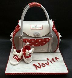 Baby Shower/Cath Kidston Bag & Shoes Cake Cake by Chocomoo