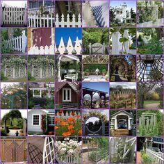 Fences and gardens.